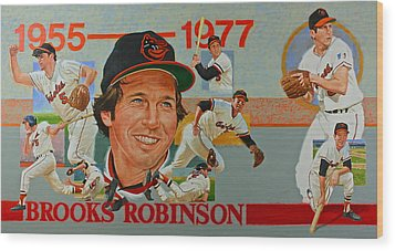 Brooks Robinson Wood Print