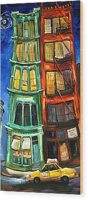 Broome Street Wood Print by Carole Foret