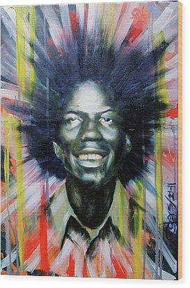 Brother Black... Mcmlxxv Wood Print by Brandon Coley