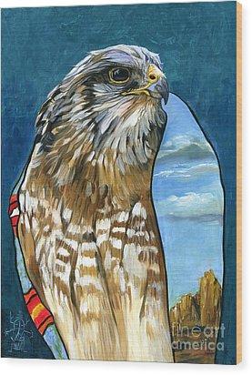 Brother Hawk Wood Print by J W Baker