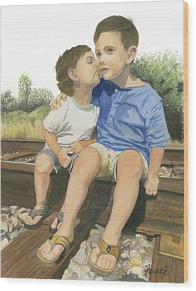 Brotherly Love Wood Print