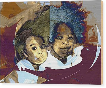 Brothers 1 Wood Print by LeeAnn Alexander