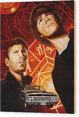 Brothers Winchester Wood Print by Al  Molina