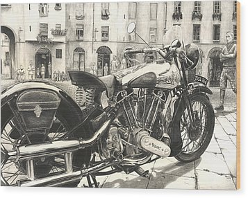 Brough Superior Ss 100 Wood Print by Norman Bean