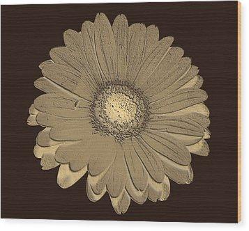 Wood Print featuring the digital art Brown Art by Milena Ilieva