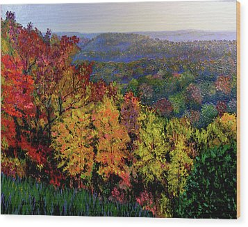 Brown County Autumn Wood Print by Stan Hamilton