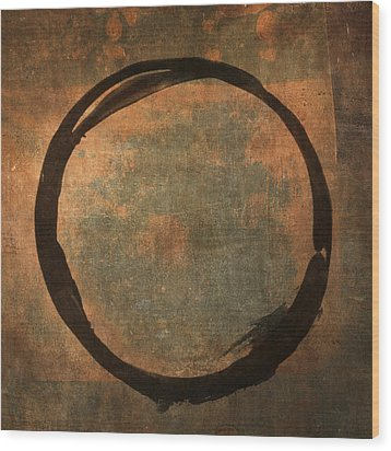 Brown Enso Wood Print