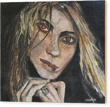 Brown Eyed Girl Wood Print by Penfield Hondros