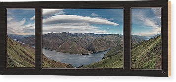 Wood Print featuring the photograph Brownlee Triptych by Leland D Howard