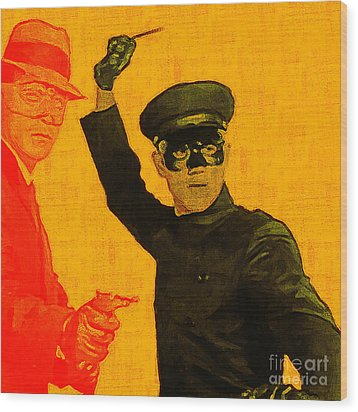 Bruce Lee Kato And The Green Hornet - Square Wood Print by Wingsdomain Art and Photography