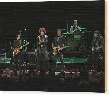 Bruce Springsteen And The E Street Band Wood Print by Melinda Saminski