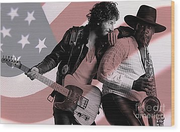 Bruce Springsteen Clarence Clemons Wood Print