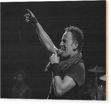 Wood Print featuring the photograph Bruce Springsteen In Cleveland by Jeff Ross