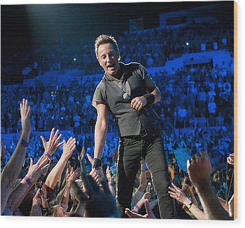Wood Print featuring the photograph Bruce Springsteen La Sports Arena by Jeff Ross