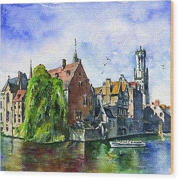 Bruges Belgium Wood Print