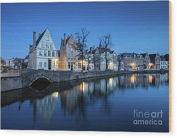 Magical Brugge Wood Print by JR Photography