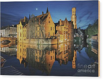 Brugge Wood Print by JR Photography