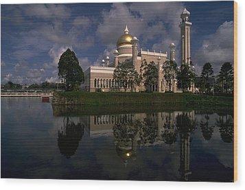 Brunei Mosque Wood Print