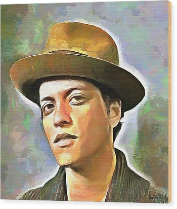 Bruno Mars Wood Print