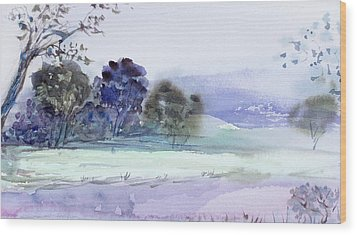 Bruny Island At Dusk Wood Print