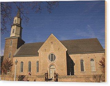 Bruton Parish Church Wood Print by Mark Currier