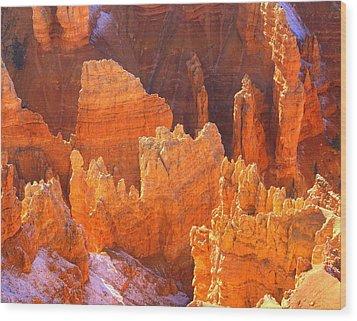 Bryce Ablaze Wood Print by Marty Koch
