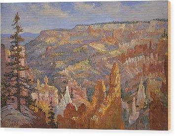 Bryce Canyon Wood Print by Lewis A Ramsey