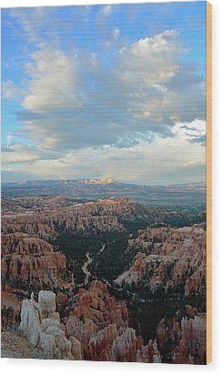Wood Print featuring the photograph Bryce Canyon Skyview by Bruce Gourley