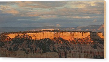 Bryce Canyon Sunset Wood Print by Laurel Talabere