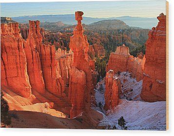 Bryce Canyon's Thor's Hammer Wood Print by Pierre Leclerc Photography
