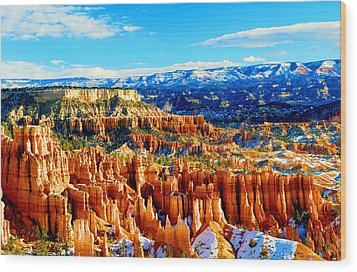 Bryce Overlook Wood Print