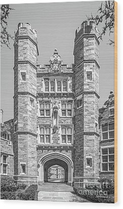 Bryn Mawr College Rockefeller Hall Wood Print by University Icons