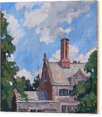 Bryn Mawr Rooftops Wood Print