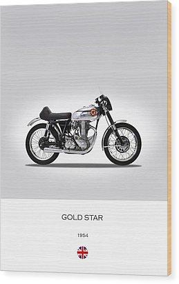 Bsa Gold Star 1954 Wood Print by Mark Rogan