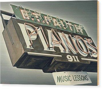 B.t.faith Pianos Wood Print by Van Cordle
