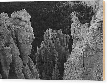 Btyce Canyon Np I Bw Wood Print by David Gordon