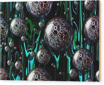 Bubble Abstract 1e Wood Print