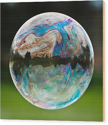Wood Print featuring the photograph Bubble by Brian Bonham