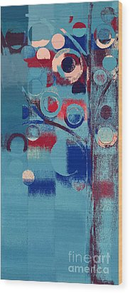 Wood Print featuring the painting Bubble Tree - 85e-j4 by Variance Collections
