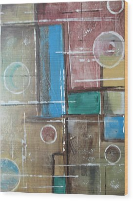 Bubbles In The Air Wood Print by Sharyn Winters
