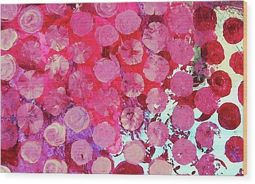 Wood Print featuring the mixed media Bubbles by Mary Ellen Frazee
