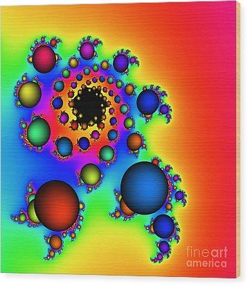 Bubbles Three Wood Print by Rolf Bertram