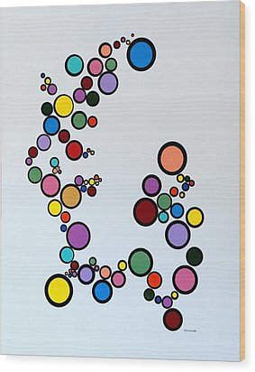 Bubbles2 Wood Print