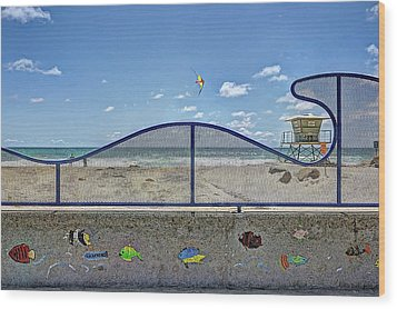 Buccaneer Beach Wood Print by Ann Patterson
