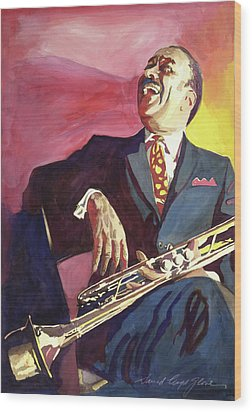 Buck Clayton Jazz Trumpet Wood Print by David Lloyd Glover