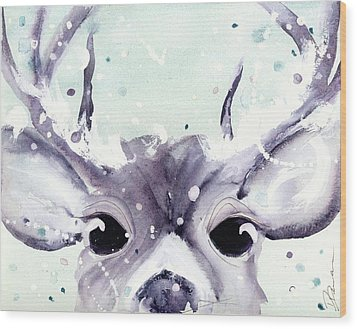 Wood Print featuring the painting Buck by Dawn Derman