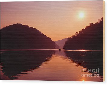 Wood Print featuring the photograph Buckhorn Lake Sunset by Thomas R Fletcher