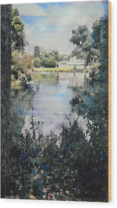 Buckingham Palace Garden - No One Wood Print