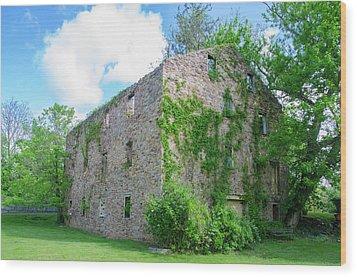 Wood Print featuring the photograph Bucks County Pa - Bridgetown Millhouse Ruins by Bill Cannon