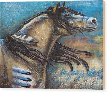 Buckskin Bell Blues Wood Print